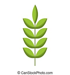 primavera, folhas, natural, verde, ramo