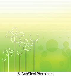 primavera, fundo, bonito