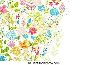 primavera, fundo, flowers.