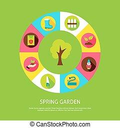 primavera, giardino, concetto