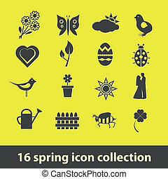 primavera, icone