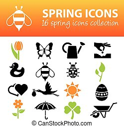 primavera, iconos