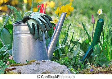 primavera, jardinagem