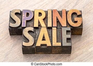 primavera, legno, bandiera, vendita, tipo