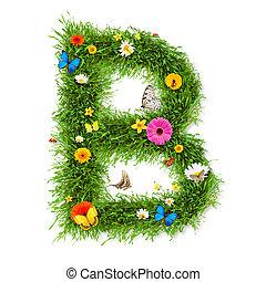"""primavera, lettera, """"b"""""""