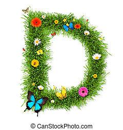 """primavera, lettera, """"d"""""""