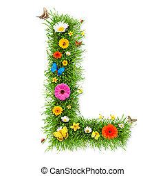"""primavera, lettera, """"l"""""""