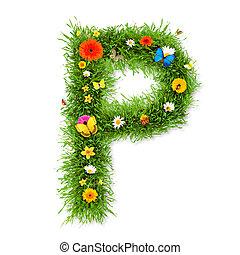 """primavera, lettera, """"p"""""""