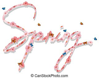 primavera, lettera, testo
