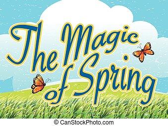 primavera, magia