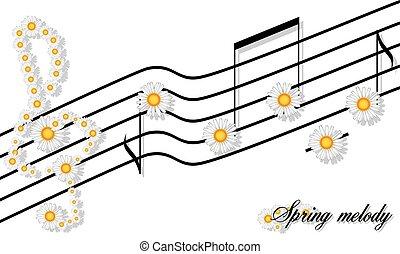 primavera, melodia, stampa, ramage