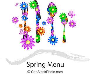 primavera, menú
