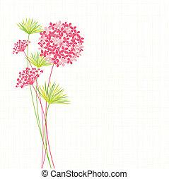 primavera, ortensia, fiore, fondo