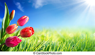 primavera, páscoa, fundo