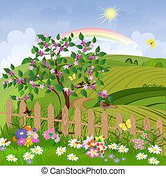 primavera, paisagem