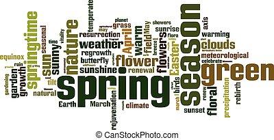 primavera, palavra, nuvem