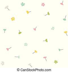 primavera, pattern., seamless, experiência., vetorial, floral