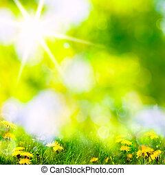 primavera, Plano de fondo