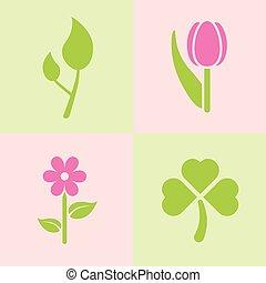primavera, plantas