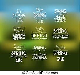 primavera, progetto serie, tipografico