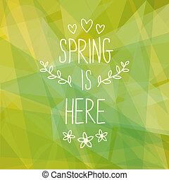 primavera, projeto abstrato