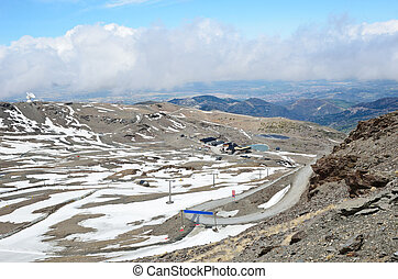 primavera, recurso, espanhol, nevada sierra, esqui