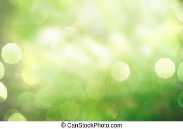 primavera, resumen, fondo verde, naturaleza