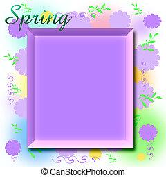 primavera, scrapbook, quadro
