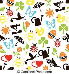 primavera, seamless, patrón
