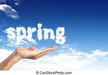 primavera, situazione, per, romantico