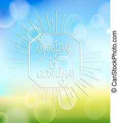 primavera, sunbrust., venida