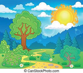primavera, tema, paesaggio, 5