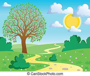 primavera, tema, paisagem, 1