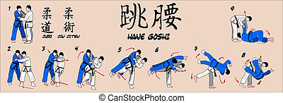 primavera, tiro, judo, cadera