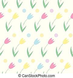 primavera, tulips, seamless, flowers., motivi dello sfondo