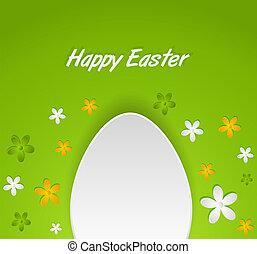 primavera, uovo di pasqua, scheda