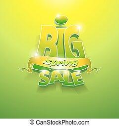 primavera, venda, vetorial, palavras, grande, 3d