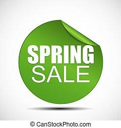 primavera, vendita, illustrazione, etichetta, vettore, ...