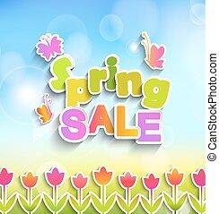 primavera, vendita, label.