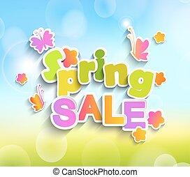 primavera, vendita, vettore
