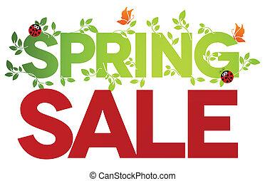 primavera, venta, aislado