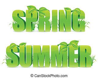 primavera, verão, words.