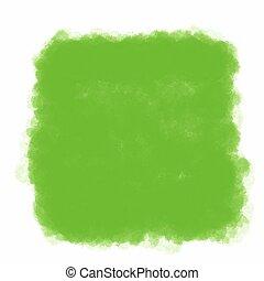 primavera, verde, acuarela, plano de fondo