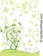 primavera, verde, bandiera