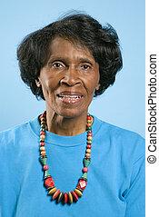 Prime adult female African American portrait.