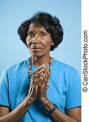 Prime adult woman portrait. - Prime adult female African...