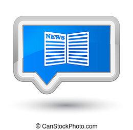 prime, blå, knap, avis, cyan, banner, ikon