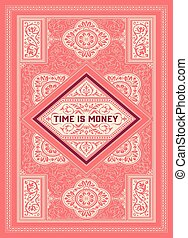prime, card., détails, ornements, floral, baroque, qualité