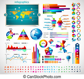 prime, maître, collection:, infographics