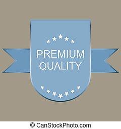prime, qualité, étiquette